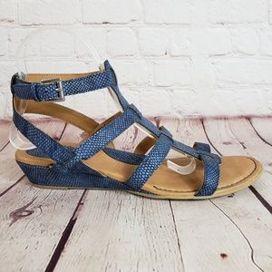 Boc Leather Gladiator Strappy Sandals